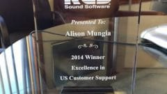 January 2015: Alison Mungia Award