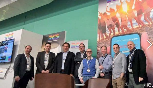 March 2015: RCS European managers before the doors opened at RadioDays Europe.