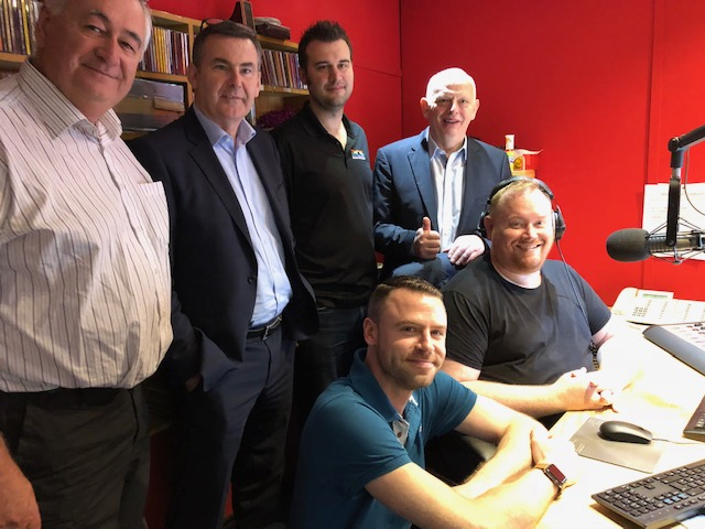 Celebrating the seamless switchover to RCS are: (left to right back row) Alan McGuire, Liam Dwyer, Joe Dyer, Eamonn Buttle Left to right front row: James Davids and Tony Scott